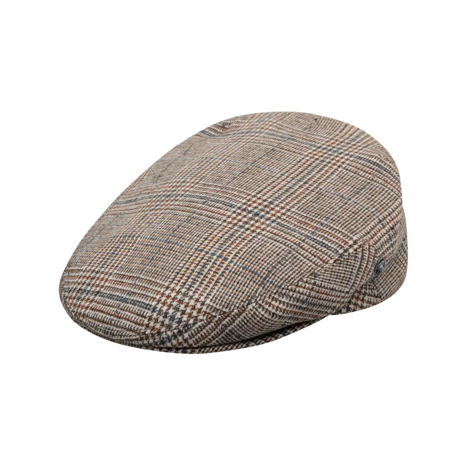 The Cashmere Choice - nsaved changes Products City Sport - Comfort Fit - Wool Cashmere Flat Cap - Beige Prince Charlie Check 3484