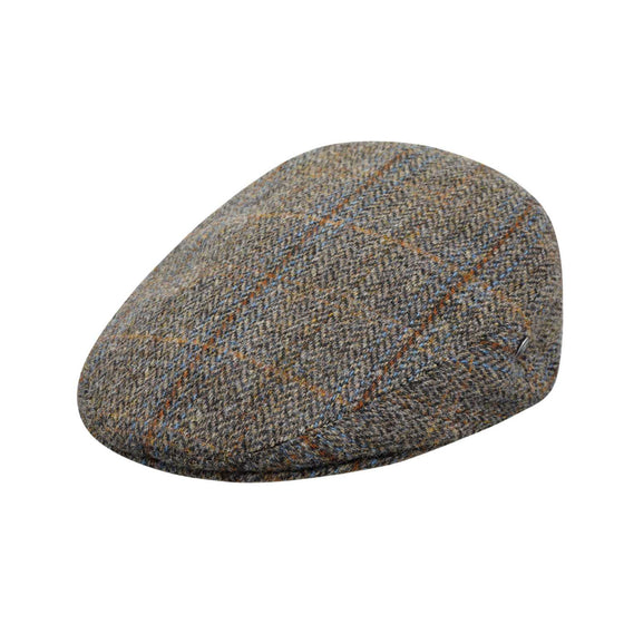 City Sport - Cool Comfort - Harris Tweed Flat Cap - Brown Herringbone 3470