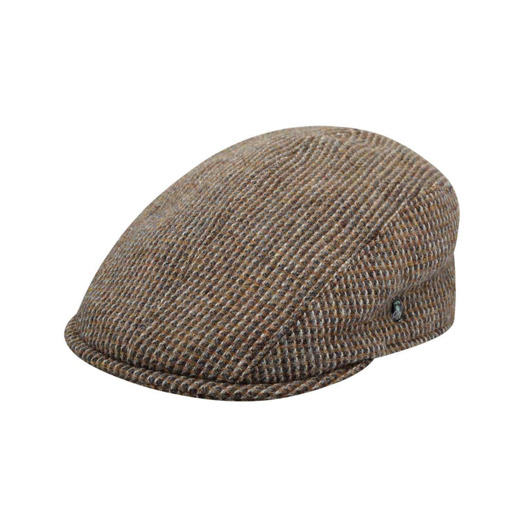 The Cashmere Choice - City Sport - Cool Comfort - Harris Tweed Flat Cap - Beige Barleycorn 3477