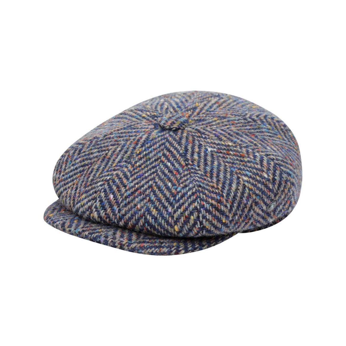 The Cashmere Choice - City Sport - Donegal Tweed 8 Piece Baker Boy Cap - Speckled Herringbone 3454