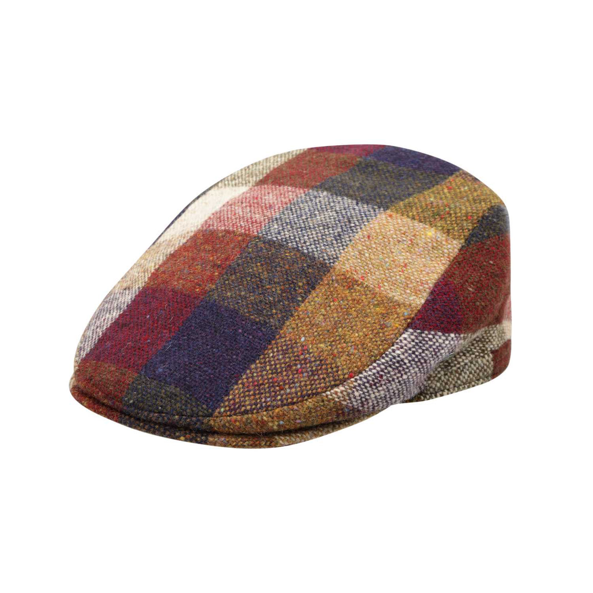 The Cashmere Choice - City Sport - Extended Peak - Donegal Tweed Flat Cap - Beige Navy 3465