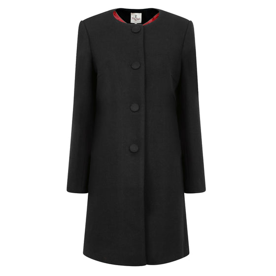 Tinta Style | Black | Ladies Wool Coat | Shop now at The Cashmere Choice | London