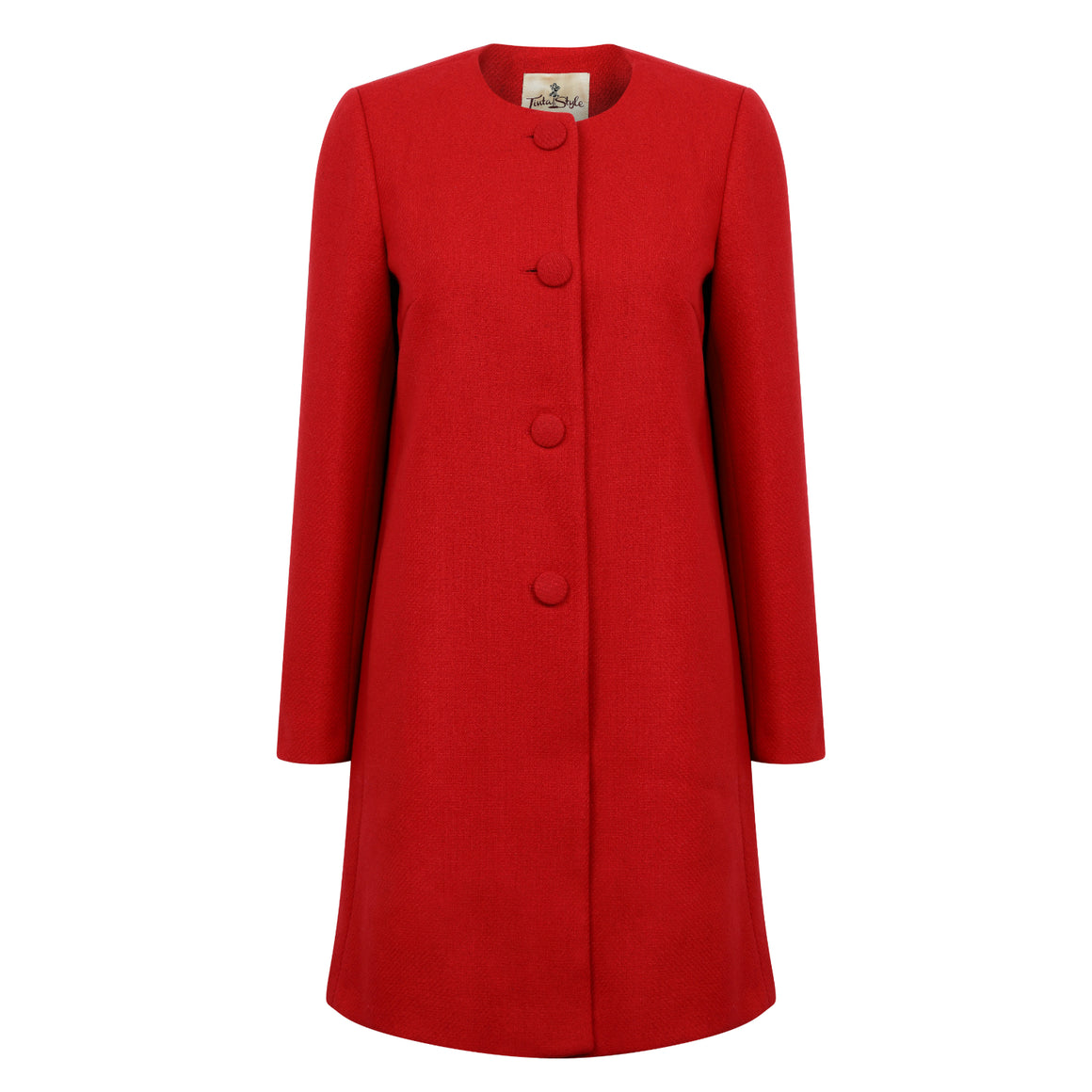 Tinta Style | Red | Ladies Wool Coat | Shop now at The Cashmere Choice | London