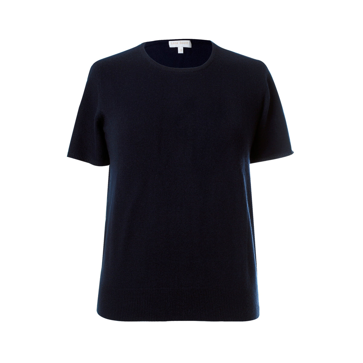Ladies Navy Blue Cashmere Sweater | Short Sleeve | The Cashmere Choice London