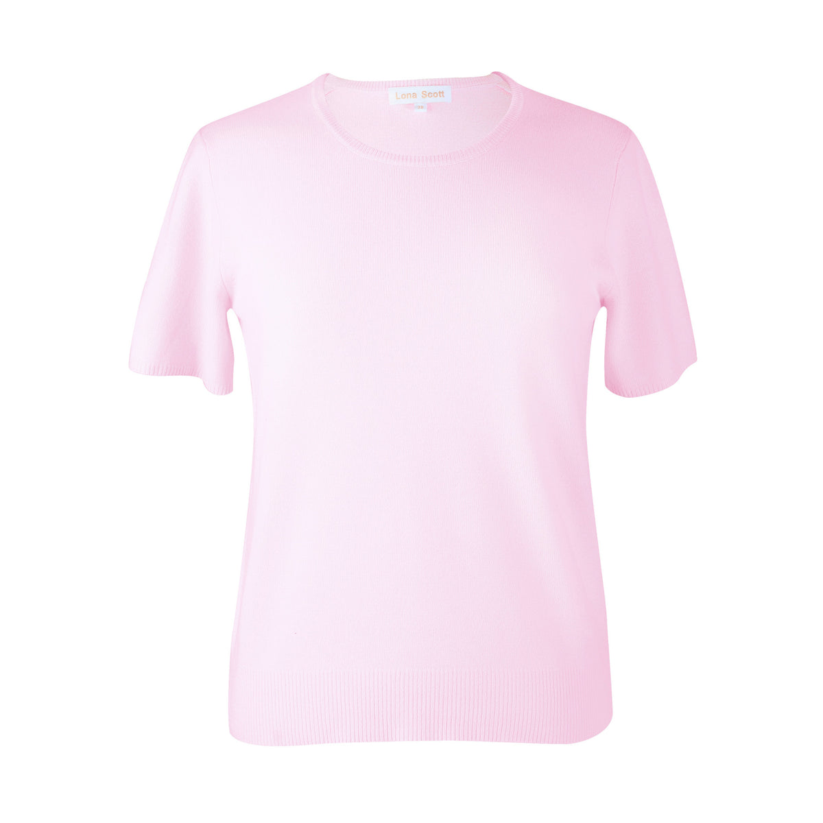 Ladies Pink Cashmere Sweater | Short Sleeve | The Cashmere Choice London