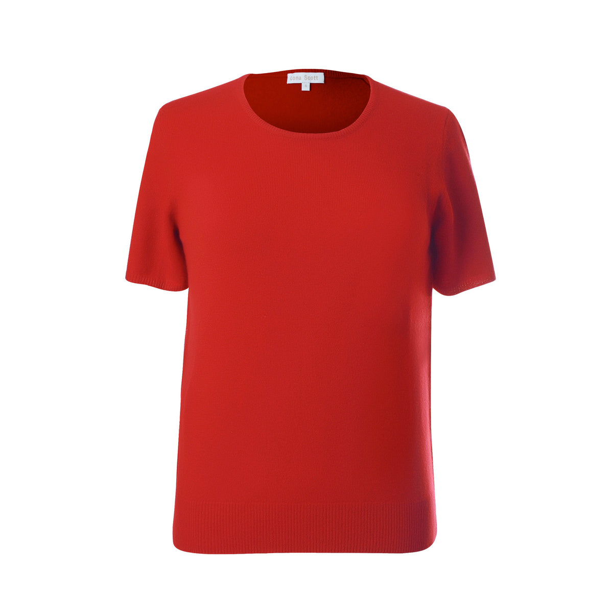 Ladies Red Cashmere Sweater | Short Sleeve | The Cashmere Choice London