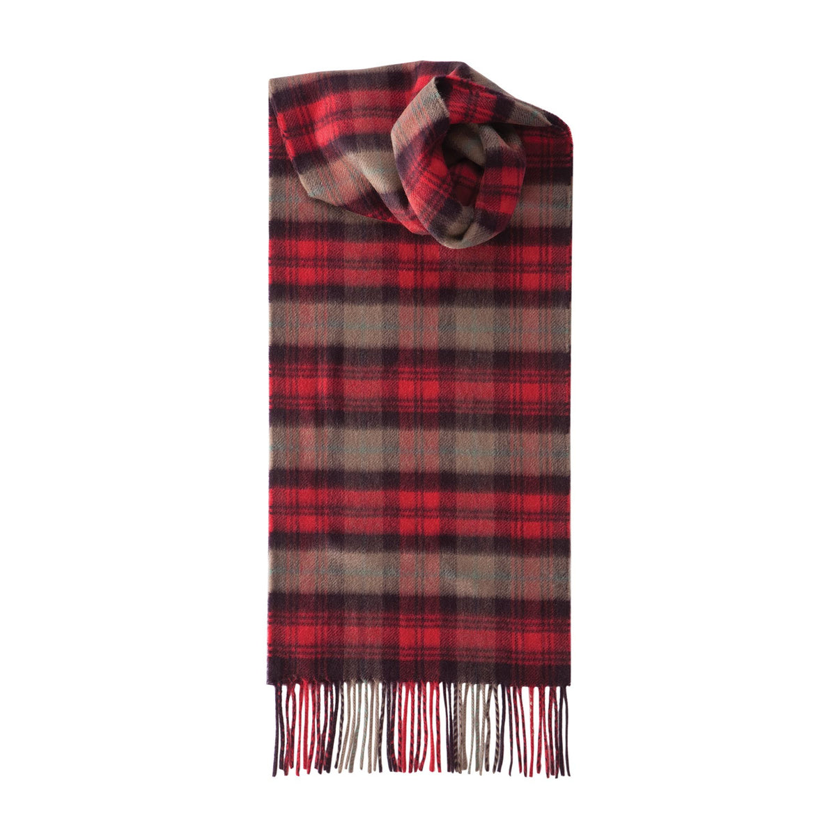Johnsons of Elgin | Vintage Maclachlan Tartan Check Cashmere Scarf | buy at The Cashmere Choice | London