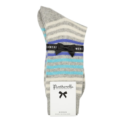 Pantherella - Ladies Cashmere Socks - W754 Striped