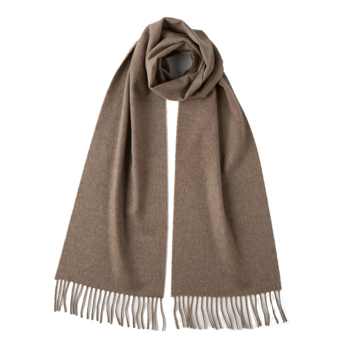 Johnsons of Elgin | Johnston Cashmere | Otter Beige Cashmere Scarf | buy at The Cashmere Choice | London