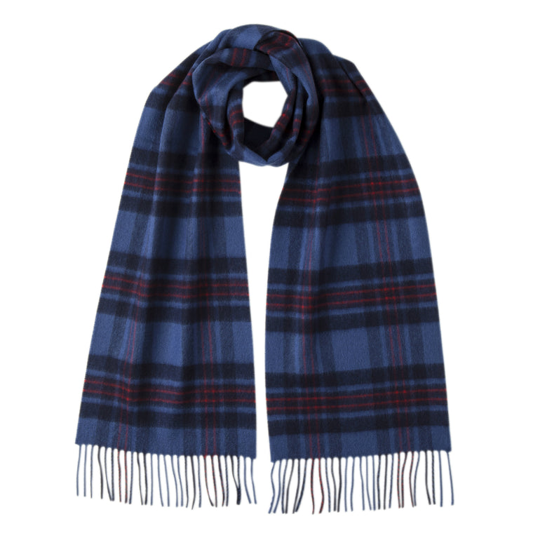 Johnsons of Elgin | Fife Tartan Check Cashmere Scarf | buy at The Cashmere Choice | London