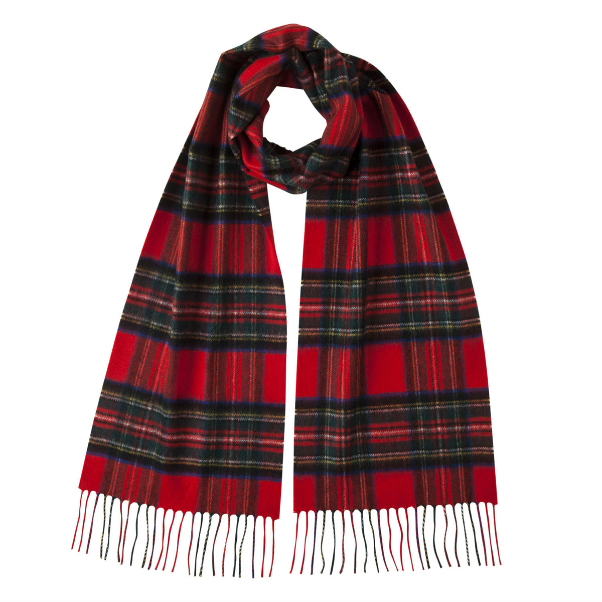 Johnsons of Elgin | Royal Stewart Tartan Check Cashmere Scarf | buy at The Cashmere Choice | London