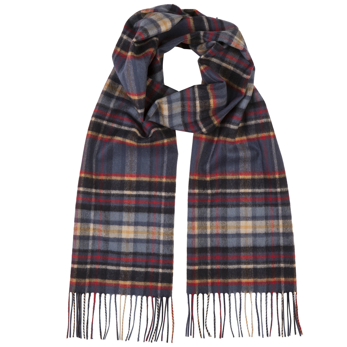 Johnsons of Elgin | Heldon Tartan Check Cashmere Scarf | buy at The Cashmere Choice | London