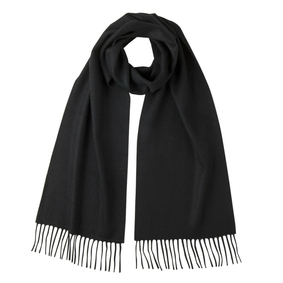 Johnsons of Elgin | Johnston Cashmere | Black Cashmere Scarf | buy at The Cashmere Choice | London