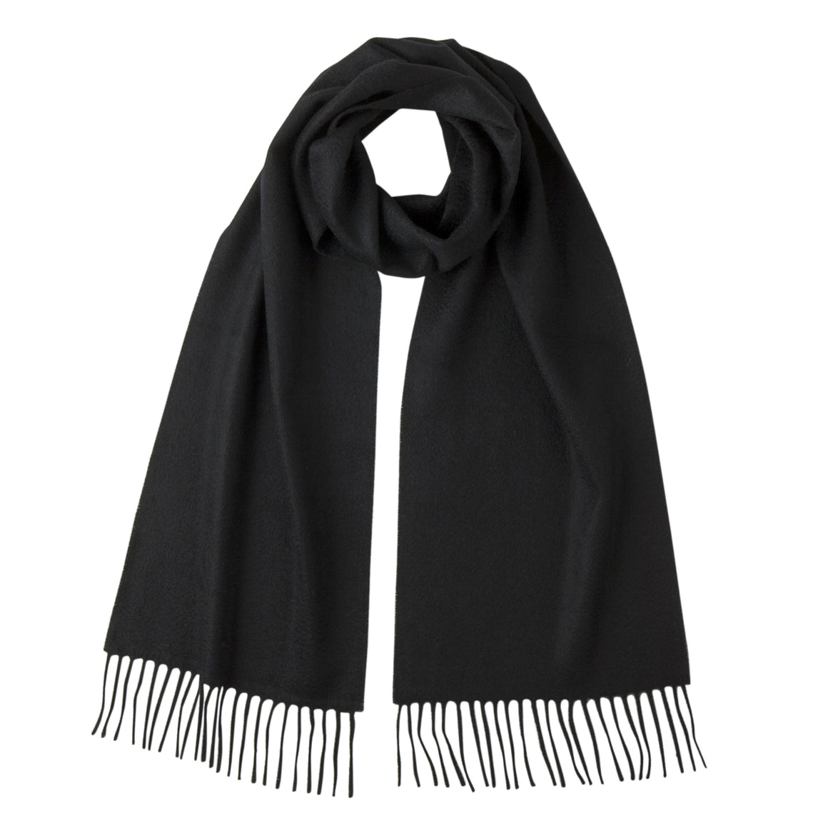Lomond Cashmere | Black | Plain Cashmere Scarf | Shop at The Cashmere Choice | London