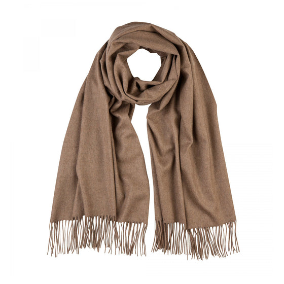 Lomond Cashmere | Otter Beige Cashmere Stole | Wrap | Large Scarf | Shop at The Cashmere Choice | London