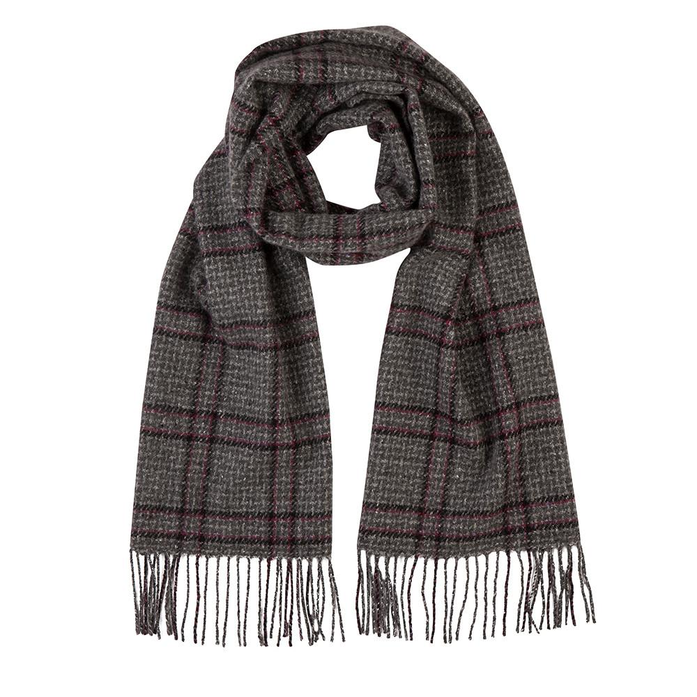 Johnstons of Elgin pure cashmere scarf tartan 8 Blue check  warm /& new