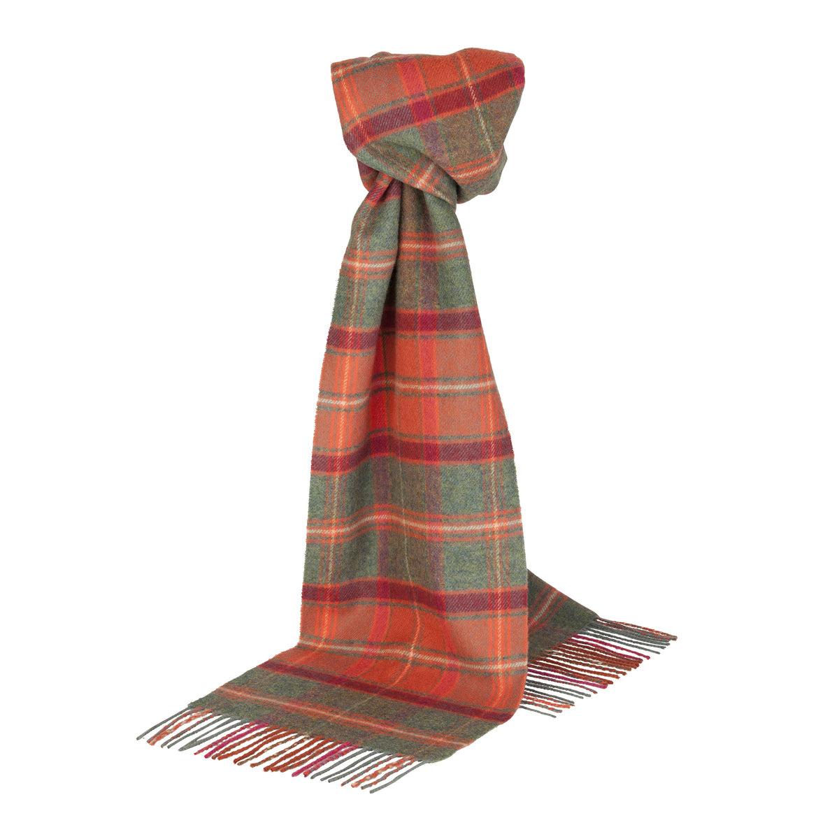 Johnsons of Elgin | Crieff Tartan Check Lambswool Scarf | buy at The Cashmere Choice | London