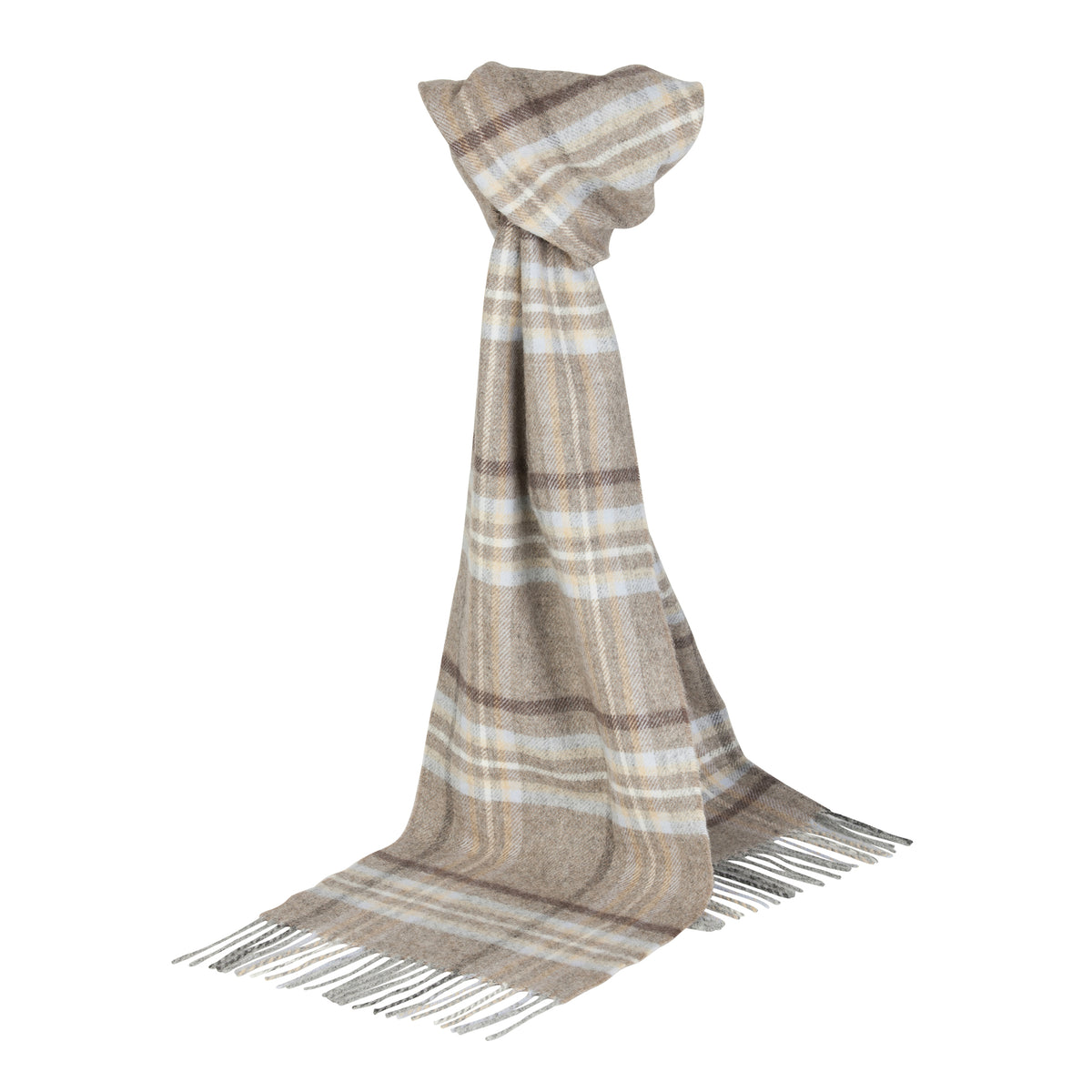 Johnsons of Elgin | Drybridge Tartan Check Lambswool Scarf | buy at The Cashmere Choice | London