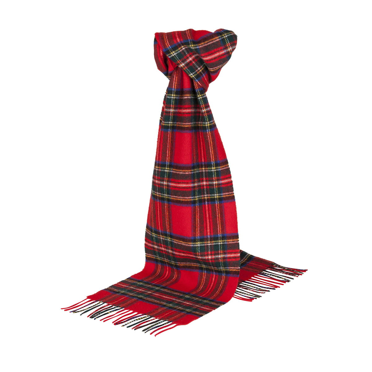Johnsons of Elgin | Royal Stewart Tartan Check Lambswool Scarf | buy at The Cashmere Choice | London