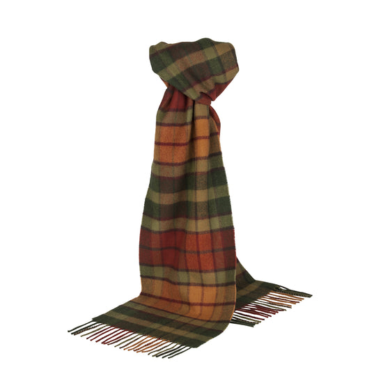 Johnsons of Elgin | Autumn Buchanan Tartan Check Lambswool Scarf | buy at The Cashmere Choice | London