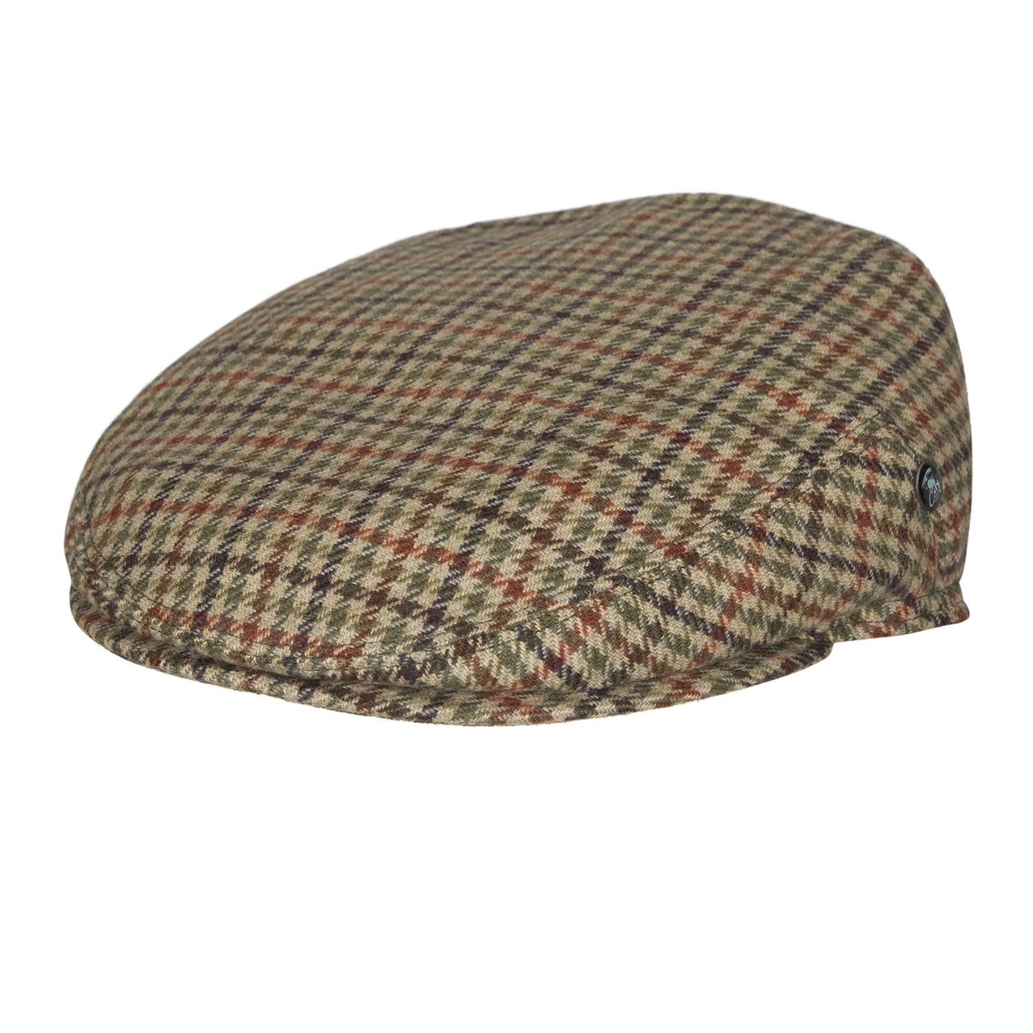 City Sport - Wool Ear Flap Cap - Houndstooth Green Multi Coloured ... 83e74c15afc7