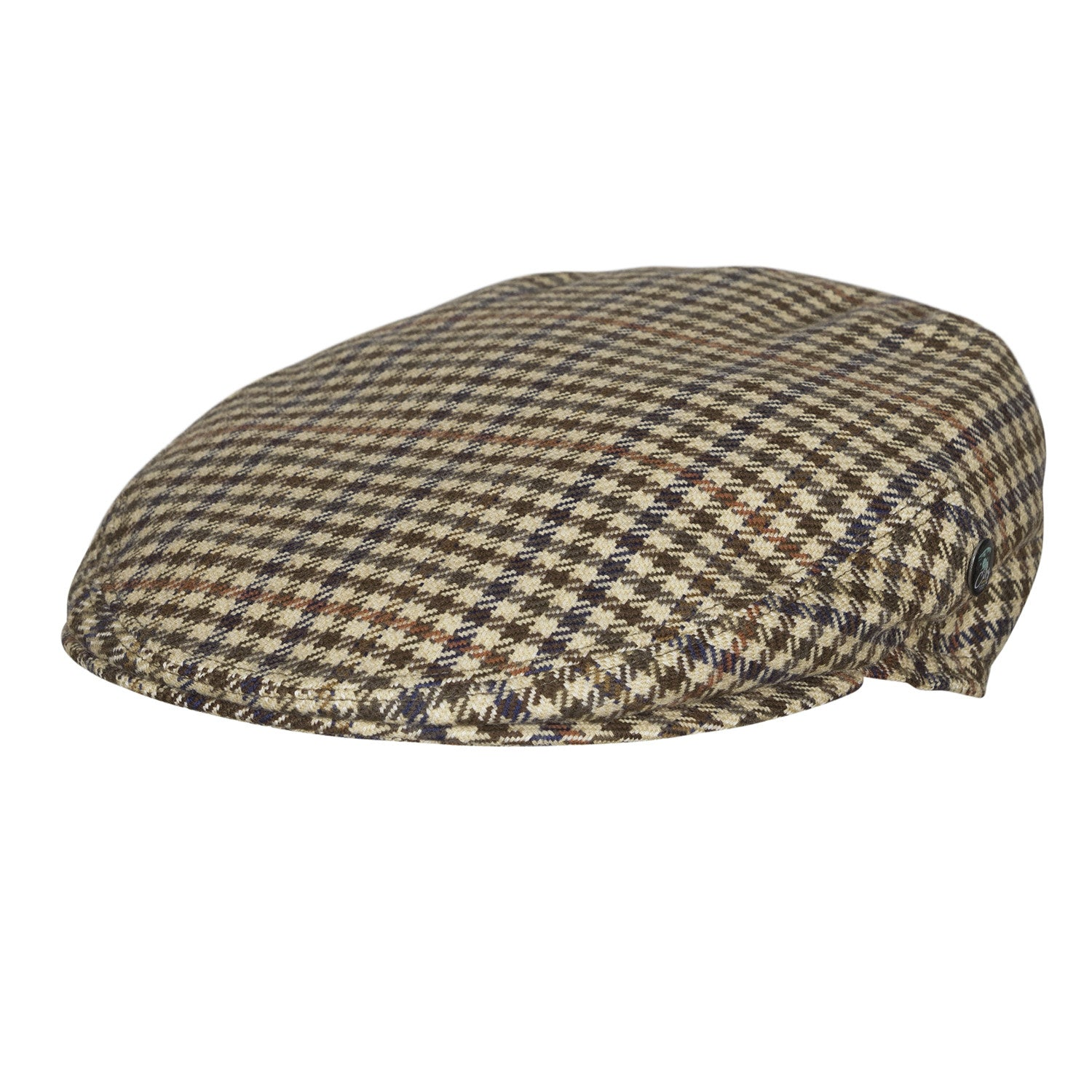 City Sport - Wool Cashmere Ear Flap Cap - Houndstooth Brown Multi ... 2d5f9ae12dc
