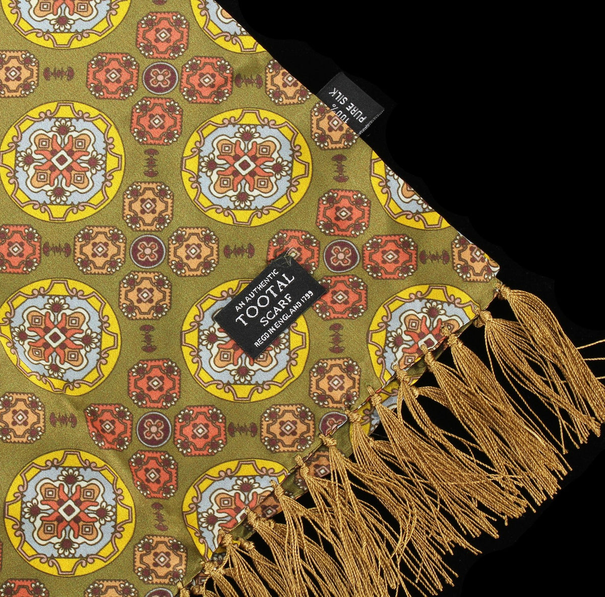 Tootal Vintage | Green Circle Print Scarf | buy now at The Cashmere Choice London