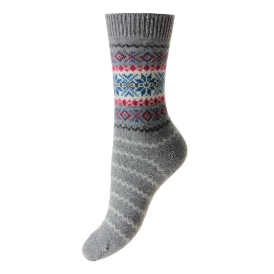 Pantherella - Ladies Cashmere Socks - W757 Fairisle