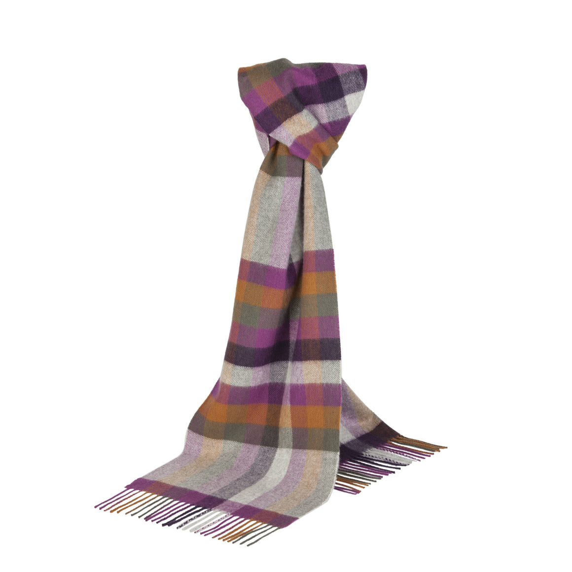 Johnsons of Elgin | Check Cashmere Scarf | buy at The Cashmere Choice | London