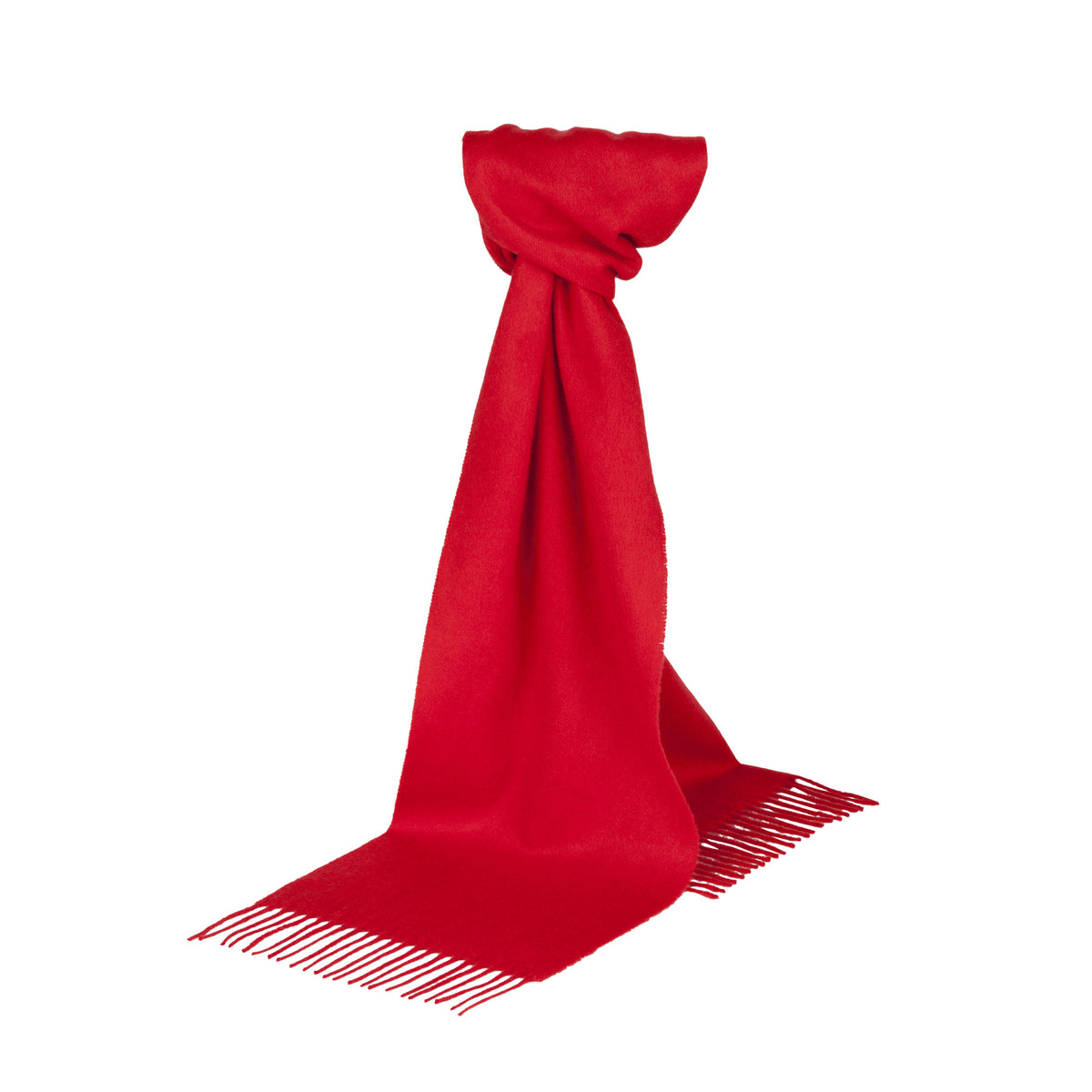 Johnsons of Elgin | Red Cashmere Scarf | buy at The Cashmere Choice | London