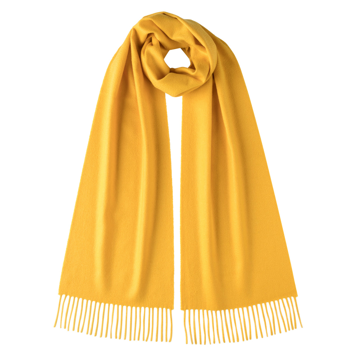Johnsons of Elgin | Johnston Cashmere | Yellow Cashmere Scarf | buy at The Cashmere Choice | London
