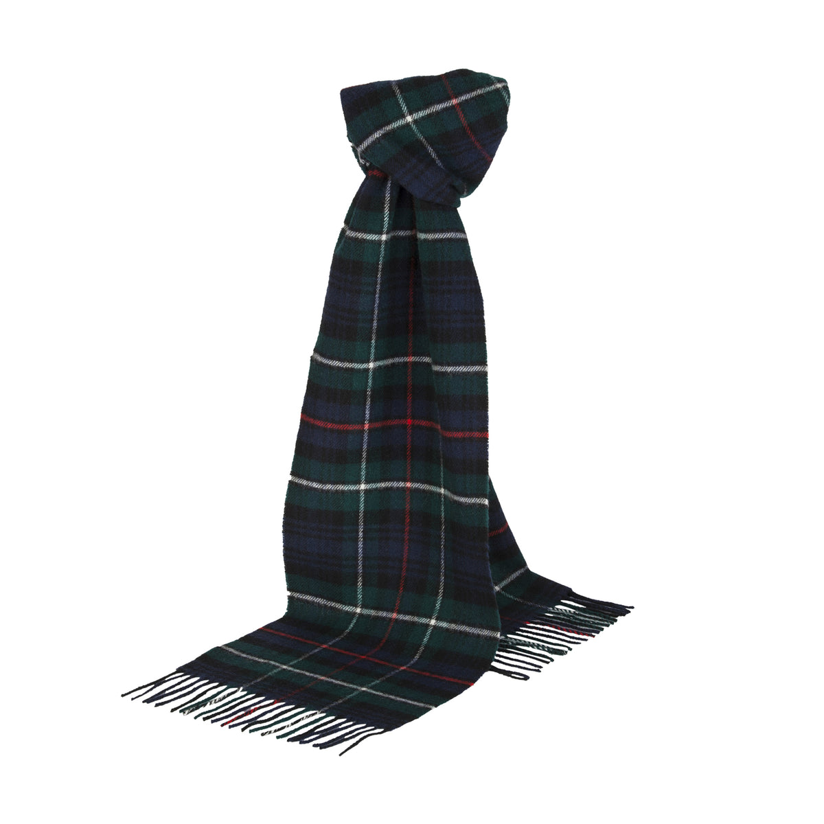 Johnsons of Elgin | Mackenzie Tartan Check Lambswool Scarf | buy at The Cashmere Choice | London