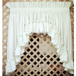 Cottage Ruffled Swag Set The Curtain Cottage