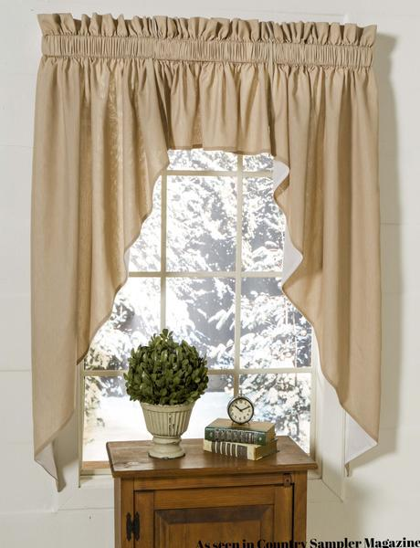 The Curtain Cottage Tailored Swag Set