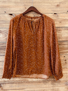 Dot Printed Loose Long Sleeve