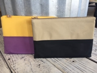 TRS color block makeup bag
