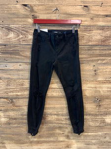 Cello Black Distressed Skinnies