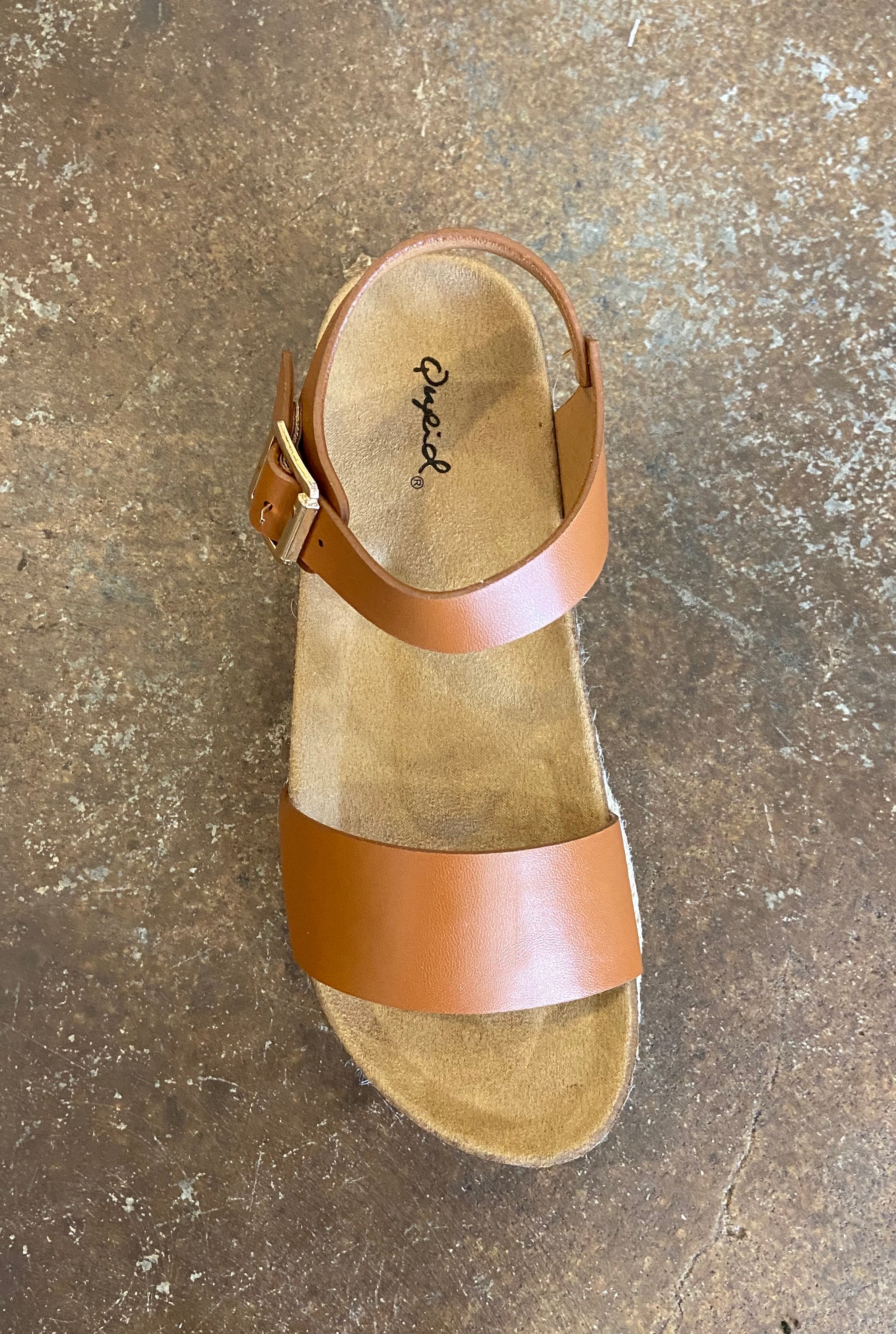Cabo Leather Strap Flatforms