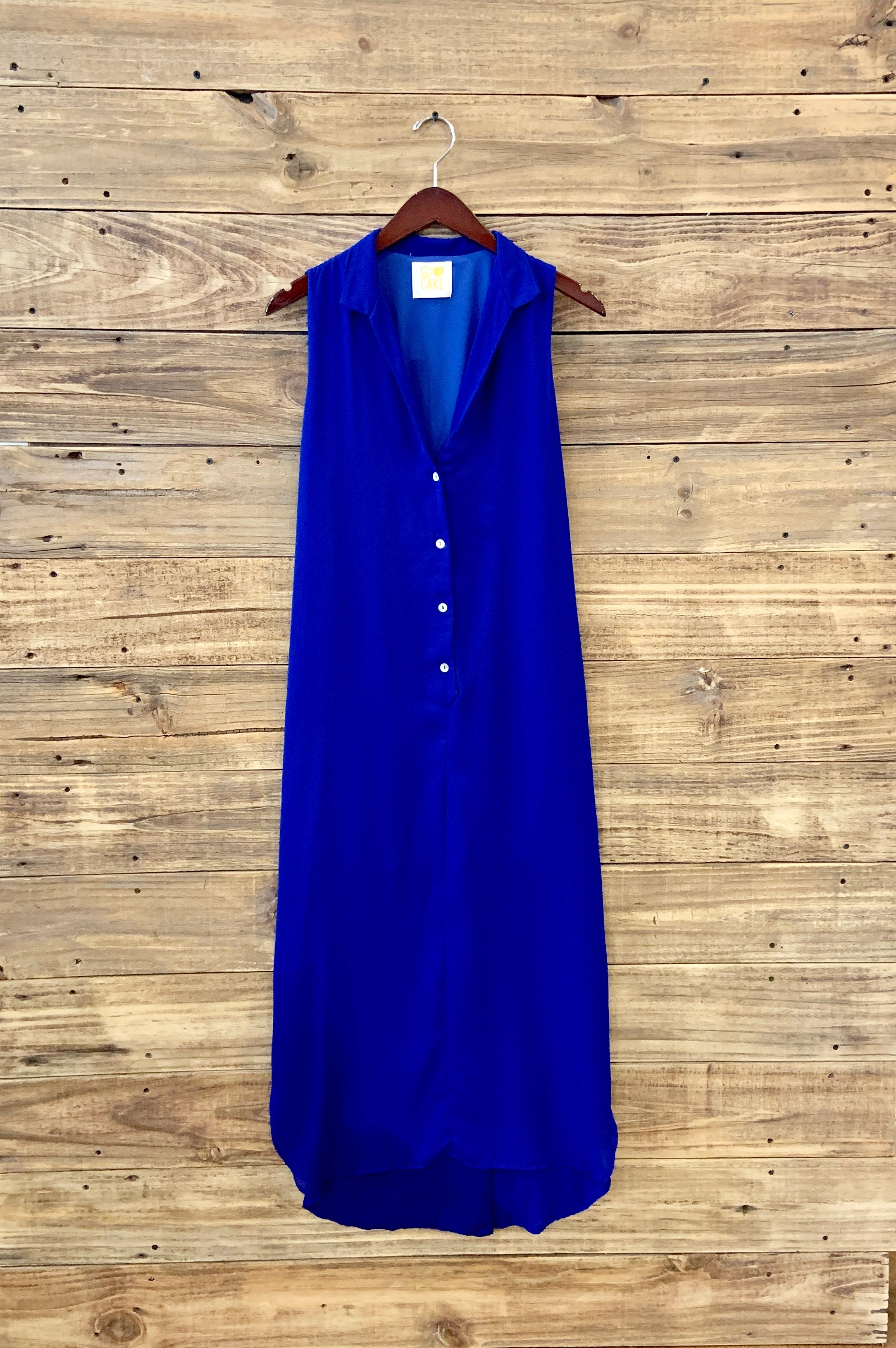 PLC sleeveless button front dress