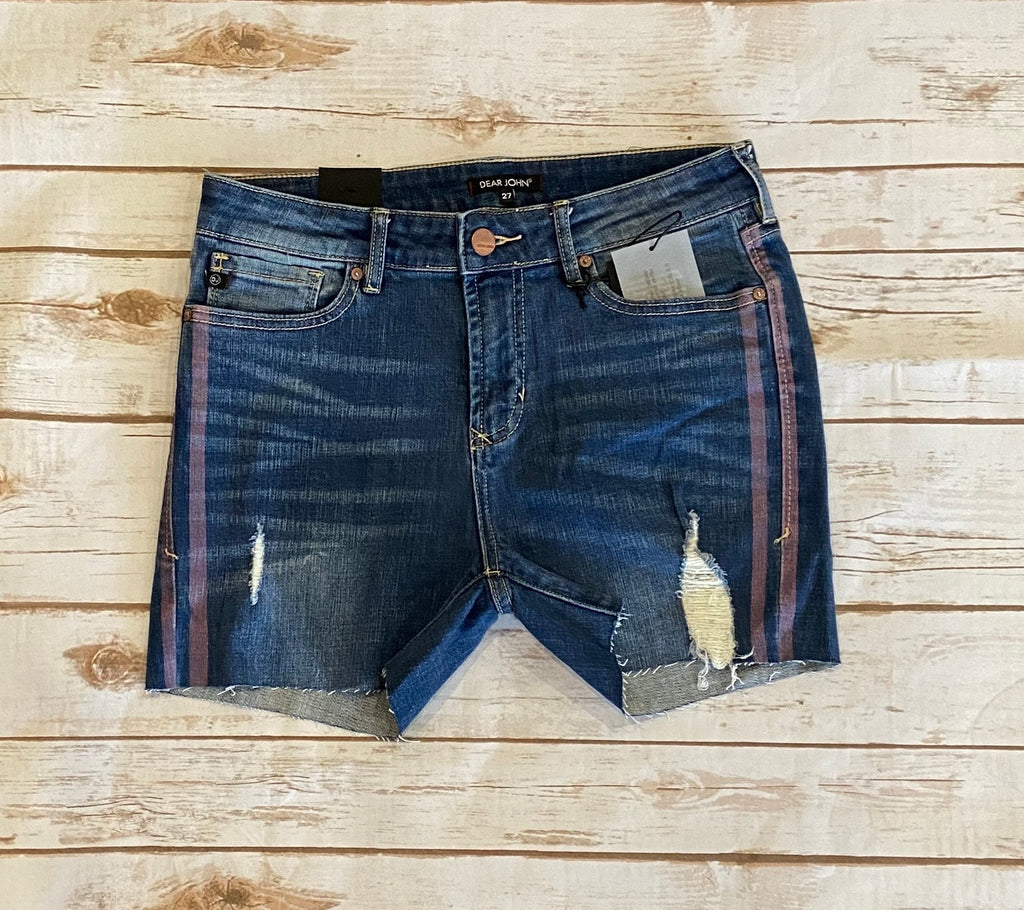 Edie Shorts With Mauve Stripe