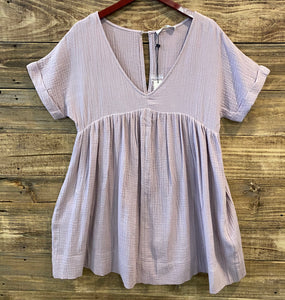 Misty Lavender Vneck Dress