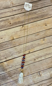 Beaded with tassle long Necklaces (JB)