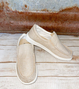 Tan slip on sneakers