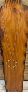 gold long necklace with pendant