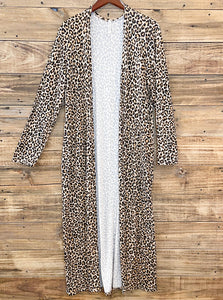 Long Leopard Duster