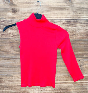Long sleeve one shoulder top