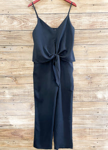 Black Flowy Top Jumpsuit