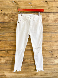Dear John Gisele White Distressed Jeans