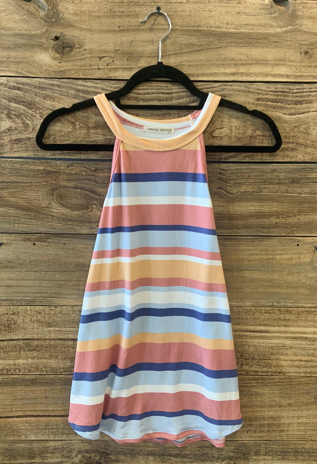 Multi Stripe Halter Neck Top