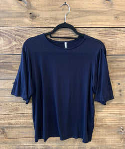 Navy split sleeve tunic